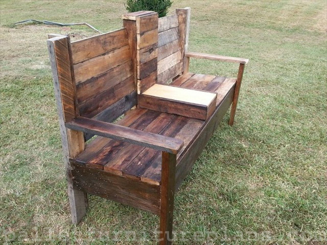 Best ideas about DIY Outdoor Benches . Save or Pin 15 DIY Outdoor Pallet Bench Now.