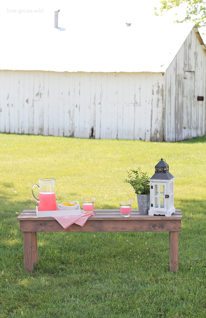 Best ideas about DIY Outdoor Benches . Save or Pin Easy DIY Outdoor Bench Love Grows Wild Now.