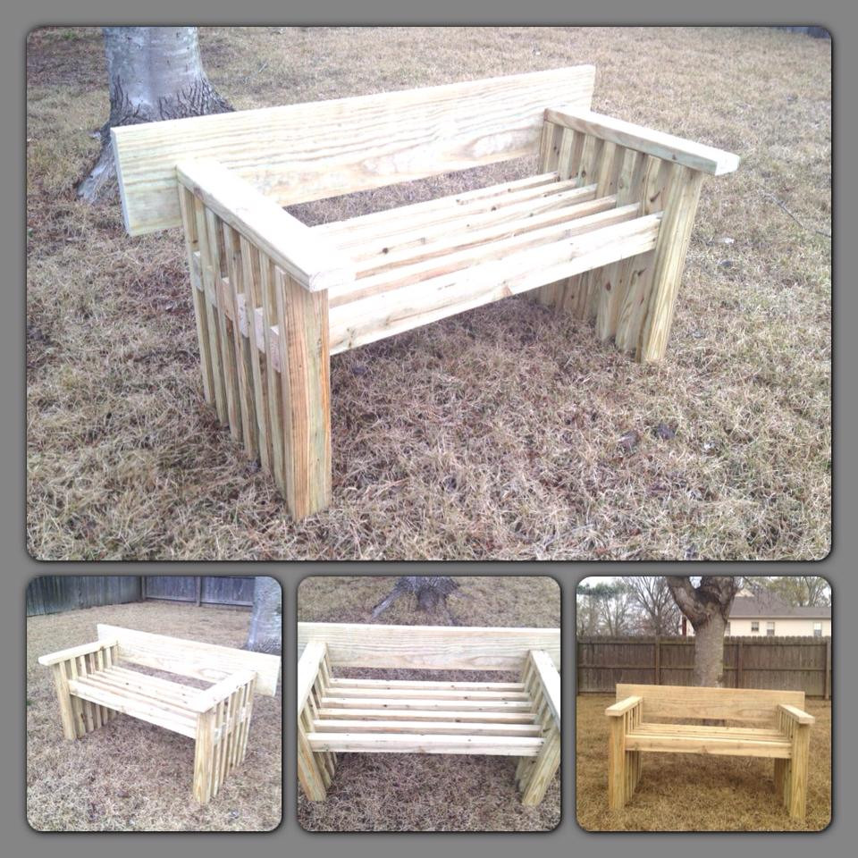 Best ideas about DIY Outdoor Benches . Save or Pin DIY Garden Bench Now.