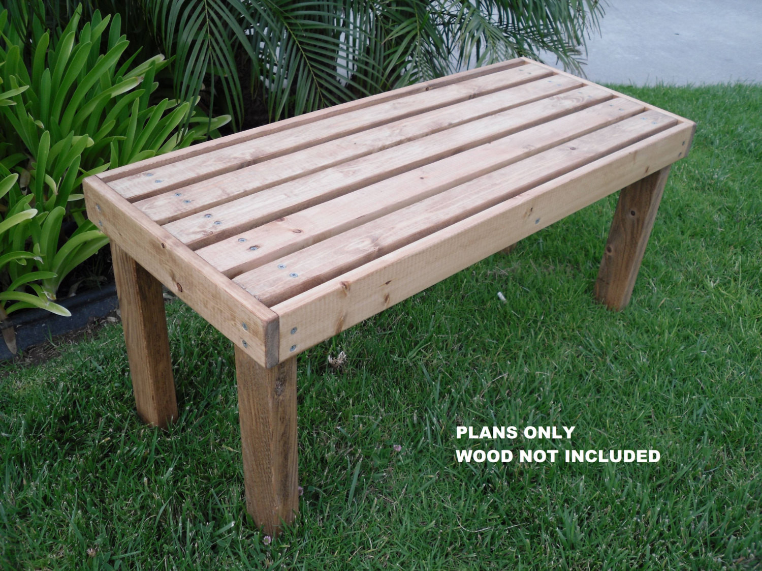 Best ideas about DIY Outdoor Benches . Save or Pin DIY PLANS to make Flat Bench Outdoor Furniture for Now.