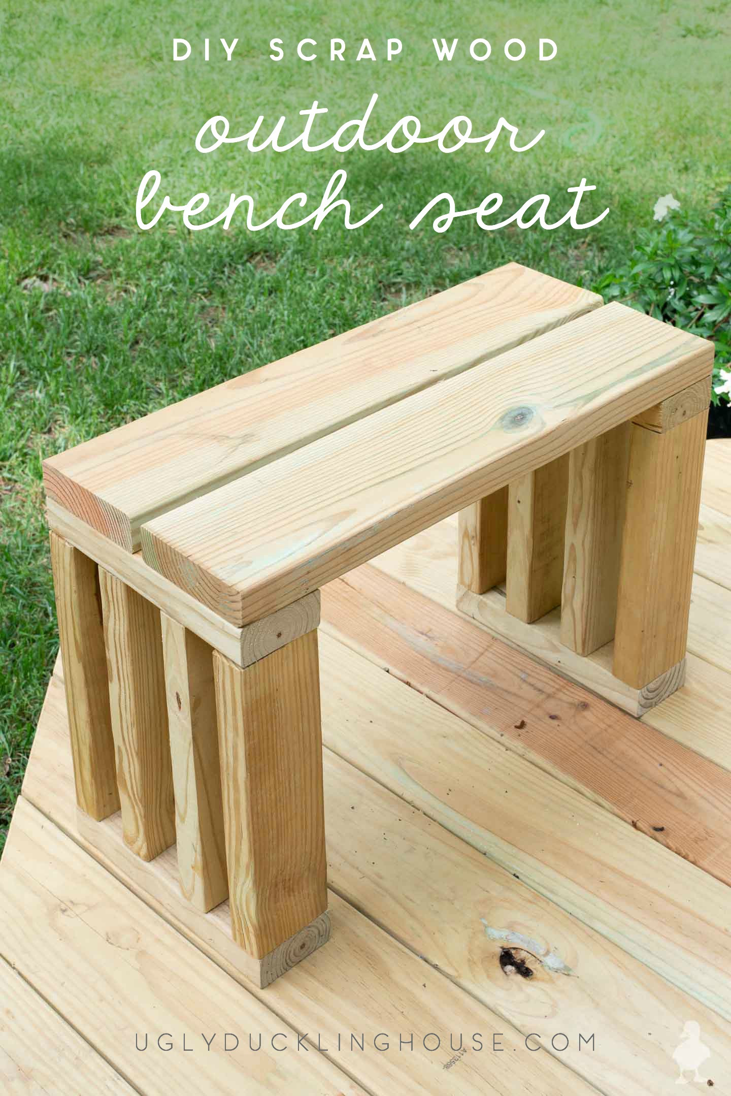 Best ideas about DIY Outdoor Benches . Save or Pin Scrap Wood Outdoor Bench Seat Now.