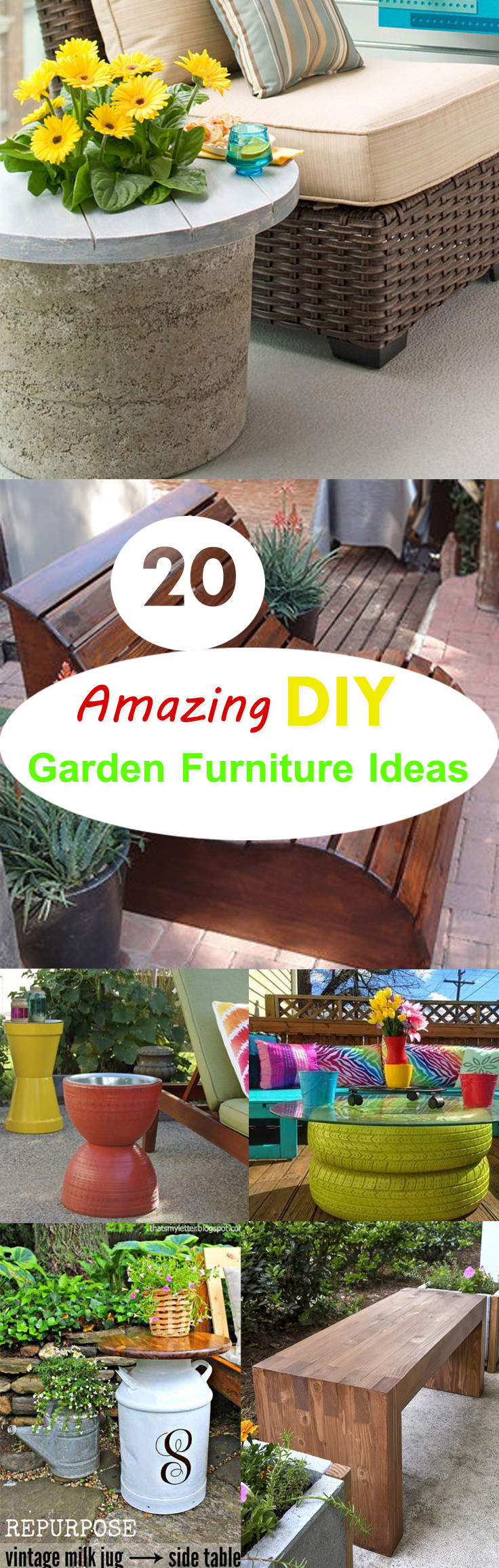 Best ideas about DIY Outdoor Furniture Ideas . Save or Pin 20 Amazing DIY Garden Furniture Ideas Now.