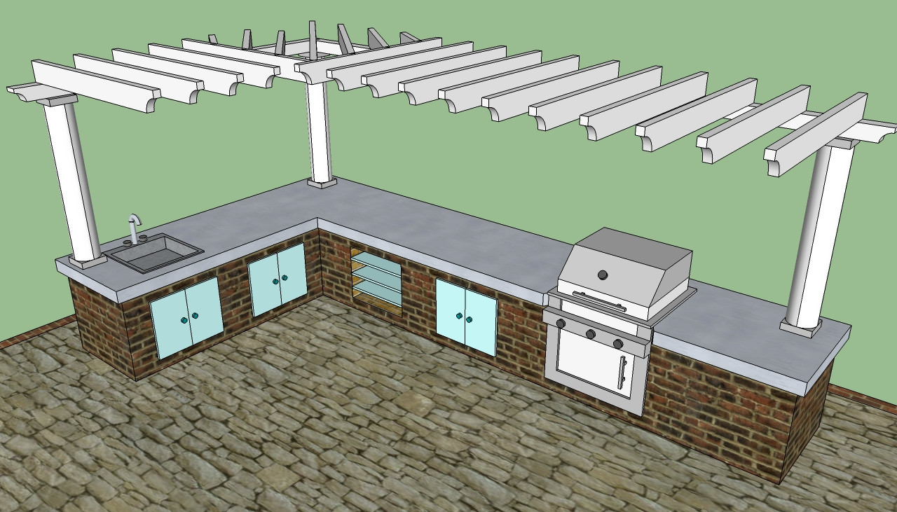 Best ideas about DIY Outdoor Kitchen Kits . Save or Pin Outdoor kitchen plans free Now.