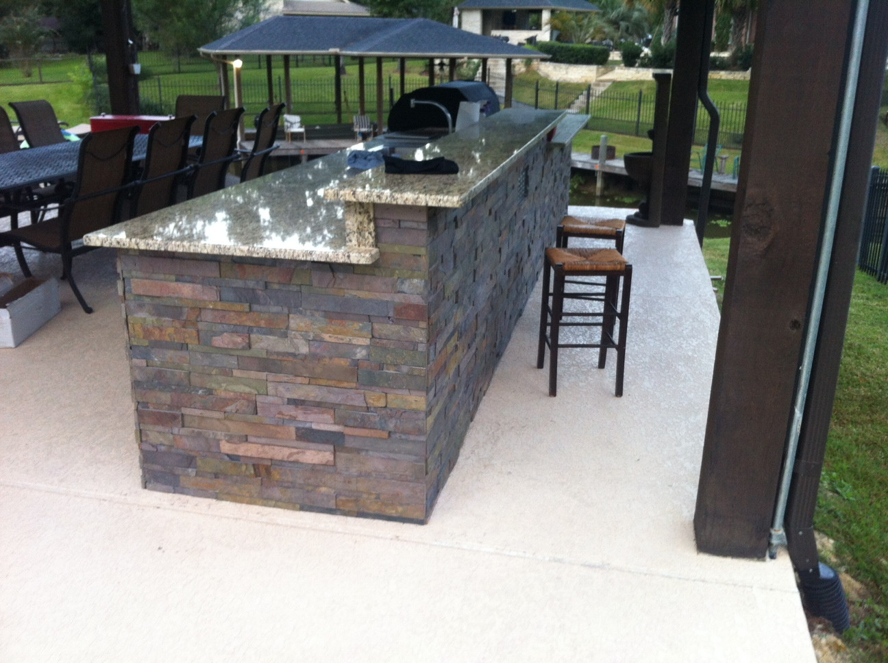 Best ideas about DIY Outdoor Kitchen Kits . Save or Pin Just about done with my outdoor kitchen DIY granite Now.