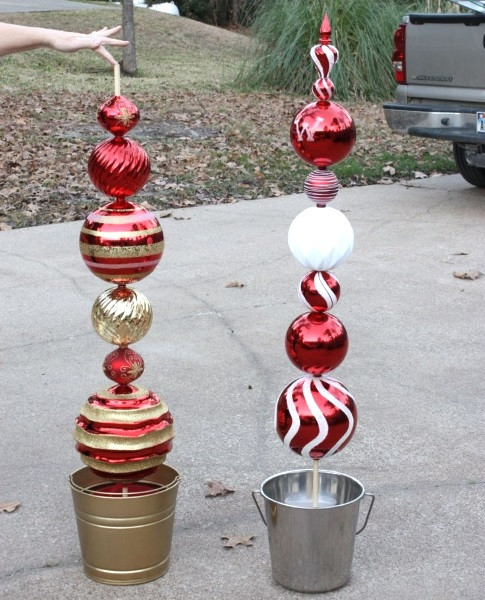 Best ideas about DIY Outdoor Lawn Christmas Decorations . Save or Pin Attractive DIY Outdoor Christmas Decorations Pink Lover Now.