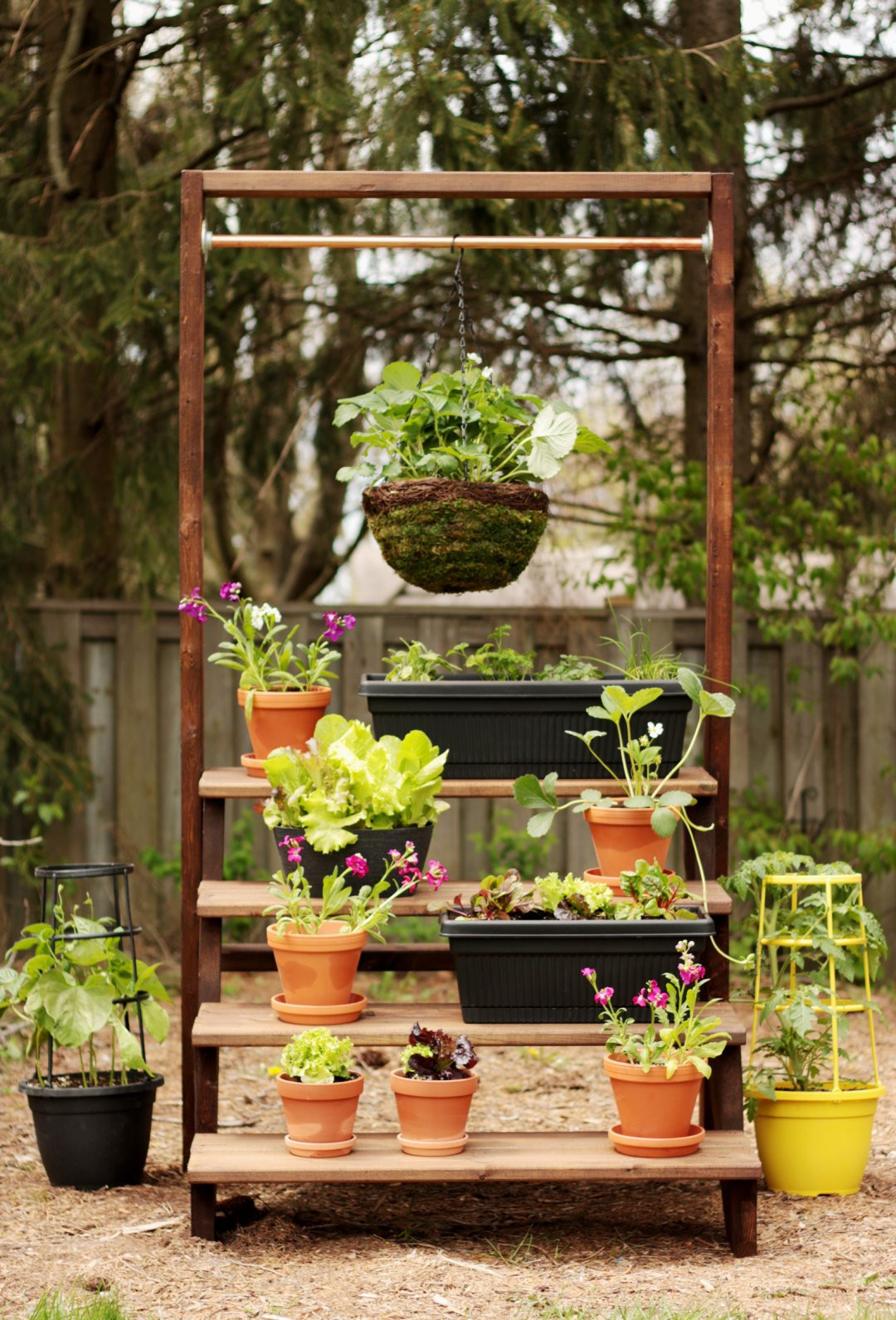 Best ideas about DIY Outdoor Plant Stand . Save or Pin DIY Staircase Plant Stand Empress of Dirt Now.