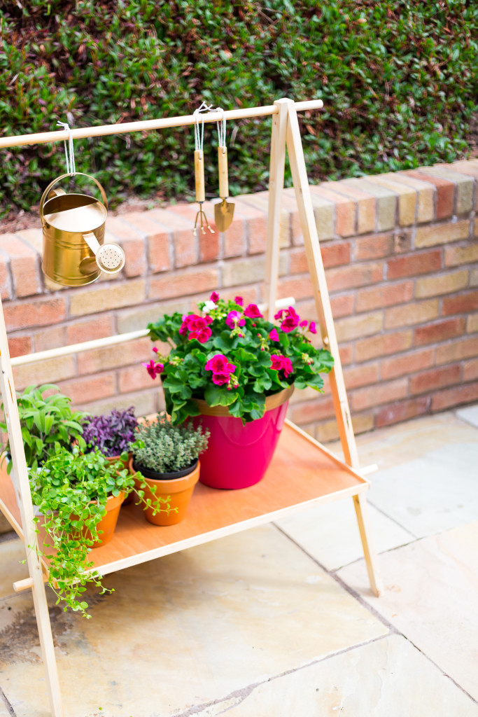 Best ideas about DIY Outdoor Plant Stand . Save or Pin DIY Ladder Plant Stand for Making a pact Garden Now.