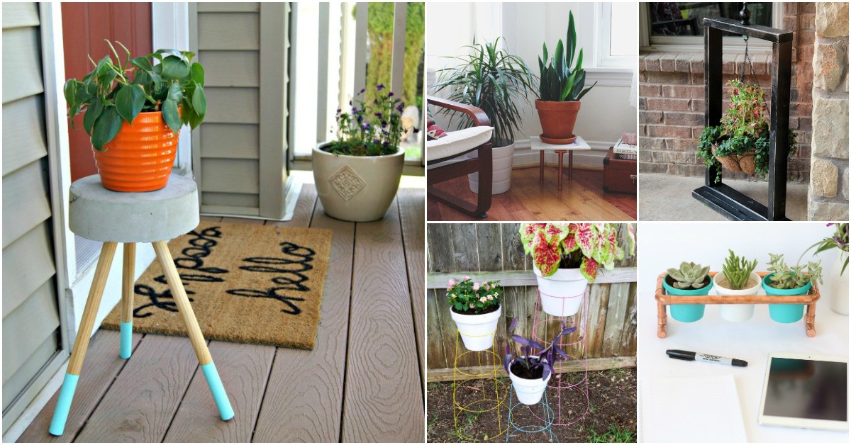 Best ideas about DIY Outdoor Plant Stand . Save or Pin 10 Easy DIY Outdoor Plant Stands To Show f Those Patio Now.