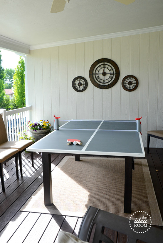 Best ideas about DIY Outside Ping Pong Table . Save or Pin DIY Ping Pong Table The Idea Room Now.