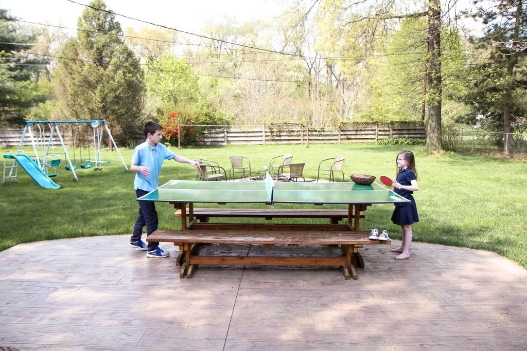 Best ideas about DIY Outside Ping Pong Table . Save or Pin DIY Ping Pong Table MomAdvice Now.