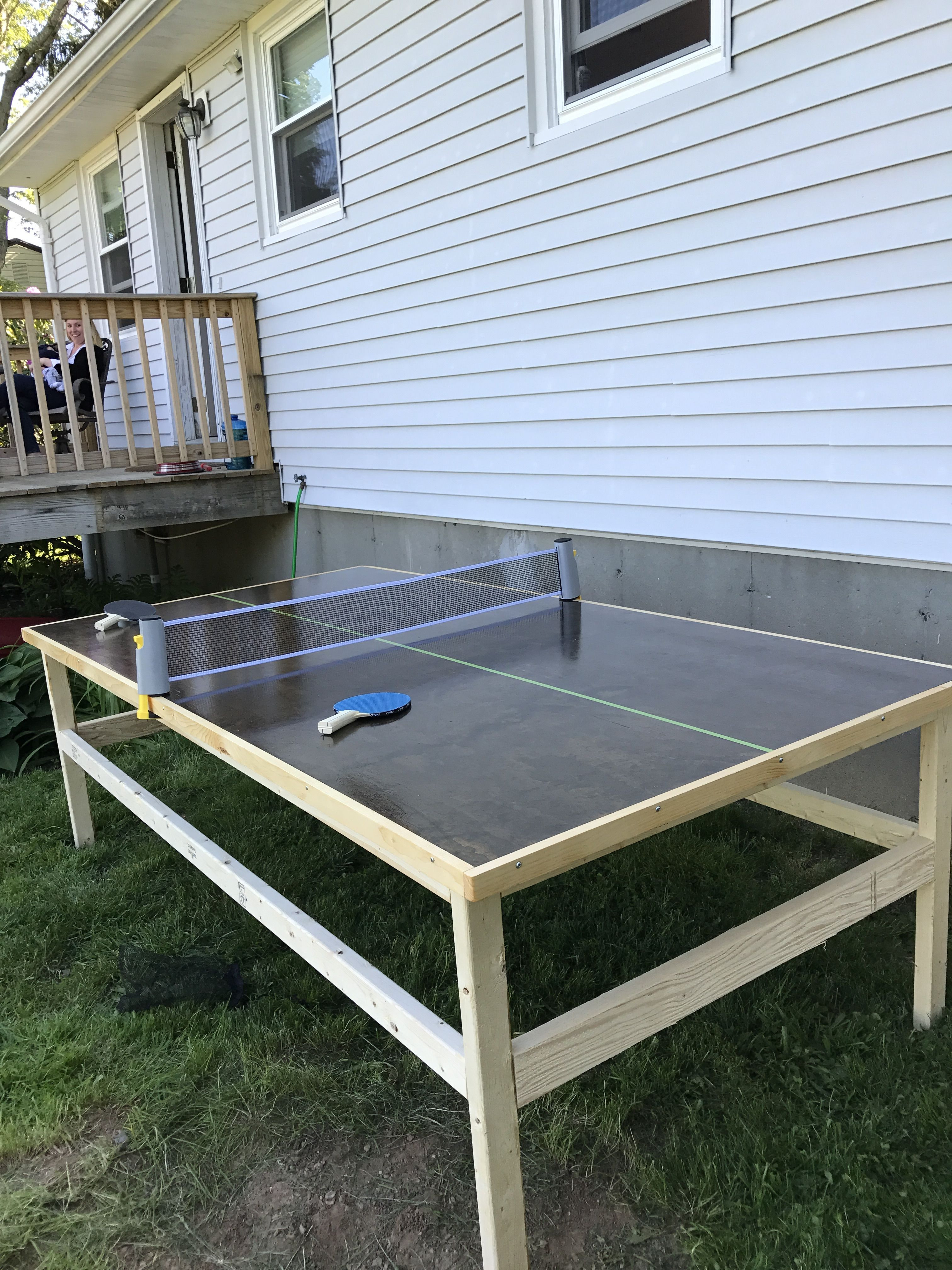 Best ideas about DIY Outside Ping Pong Table . Save or Pin Diy ping pong table used the Kreg jig for the legs has Now.