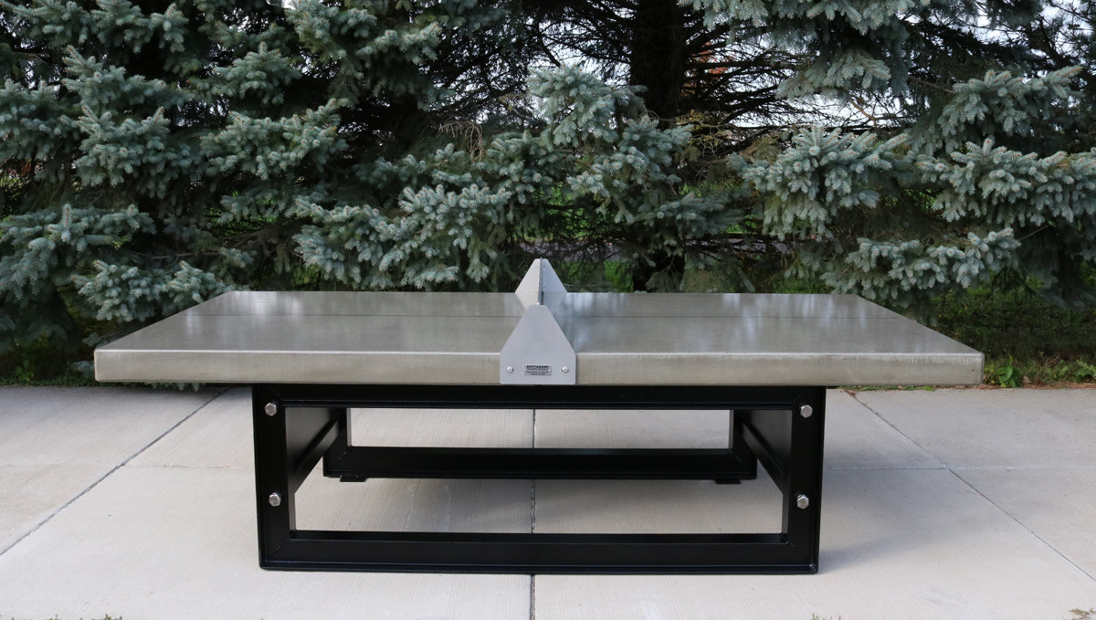 Best ideas about DIY Outside Ping Pong Table . Save or Pin Outdoor Concrete Ping Pong Tennis Table with steel base Now.