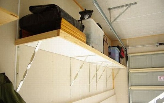 Best ideas about DIY Overhead Garage Storage Plans . Save or Pin Overhead Garage Storage Racks to Over e The Clutter Now.