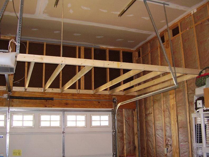 Best ideas about DIY Overhead Garage Storage Plans . Save or Pin DIY hanging garage storage Now.