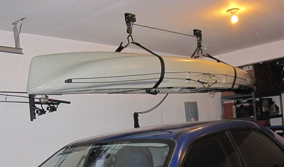 Best ideas about Diy Overhead Garage Storage Pulley System . Save or Pin How To Create Kayak Garage Storage Now.