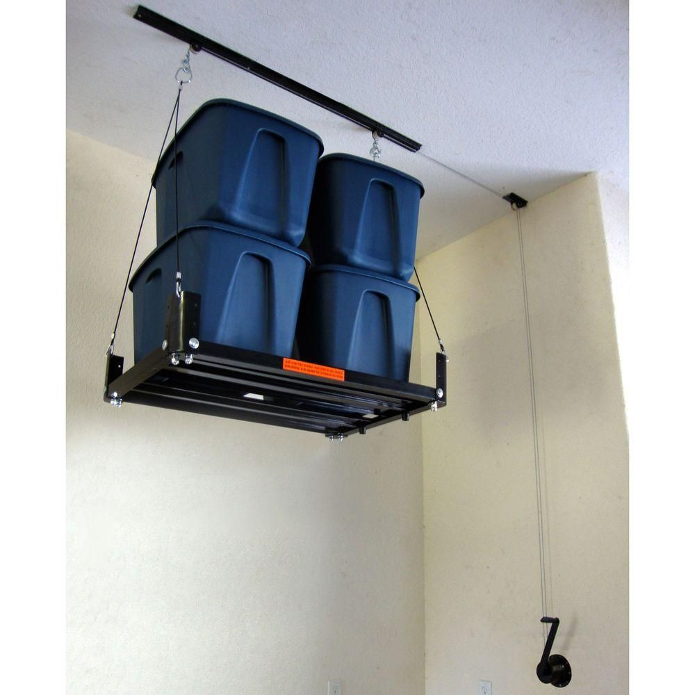 Best ideas about Diy Overhead Garage Storage Pulley System . Save or Pin Garage Gator Storage Platform Accessory for The Garage Now.