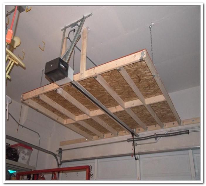 Best ideas about Diy Overhead Garage Storage Pulley System . Save or Pin 37 Overhead Garage Storage Ideas Diy DIY Garage Storage Now.