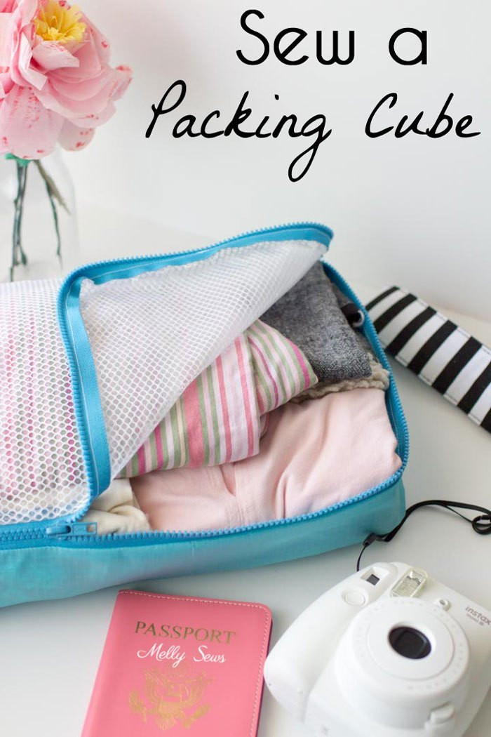 Best ideas about DIY Packing Cubes . Save or Pin Tutorial DIY packing cubes to organize your suitcase – Sewing Now.