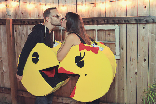 Best ideas about DIY Pacman Costume . Save or Pin Couples Halloween Costume DIY Pacman – Julie Ann Art Now.