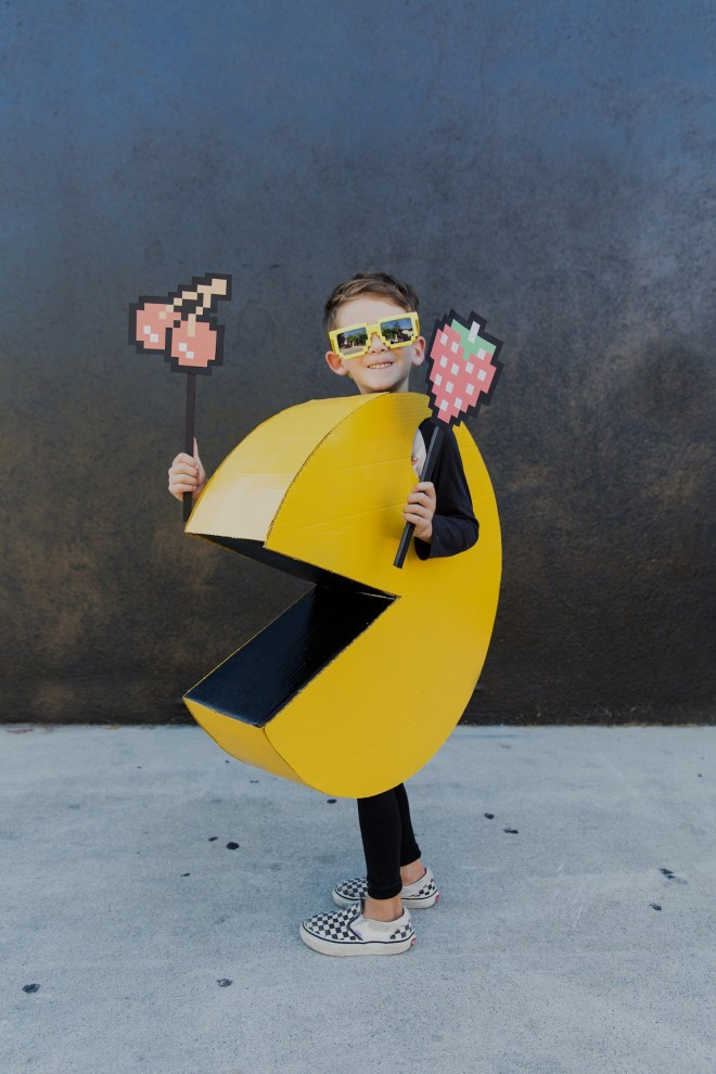 Best ideas about DIY Pacman Costume . Save or Pin DIY Kids PAC MAN Halloween Costume The Effortless Chic Now.