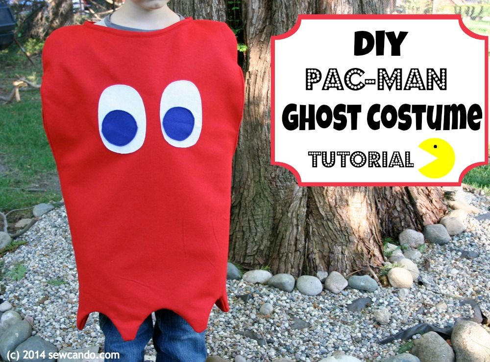 Best ideas about DIY Pacman Costume . Save or Pin Sew Can Do DIY Pac Man Ghost Costume Tutorial Now.
