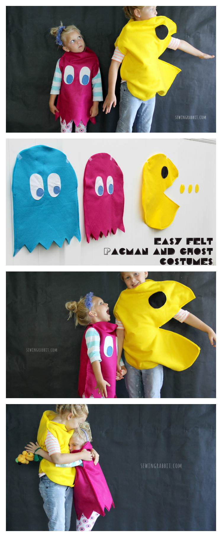 Best ideas about DIY Pacman Costume . Save or Pin Pac Man & Ghost Costume DIY The Sewing Rabbit Now.