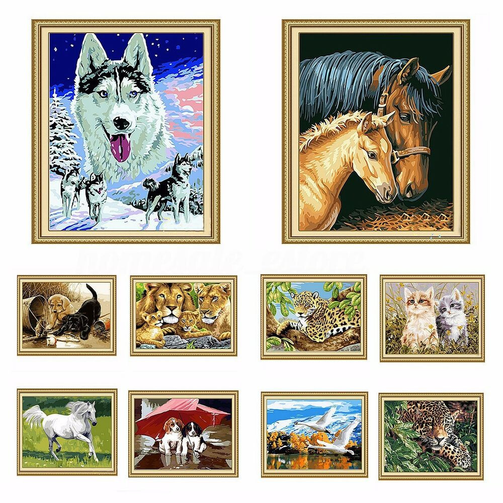 Best ideas about DIY Paint By Numbers . Save or Pin Lovely Animals DIY Paint By Number Kit Acrylic Painting Now.