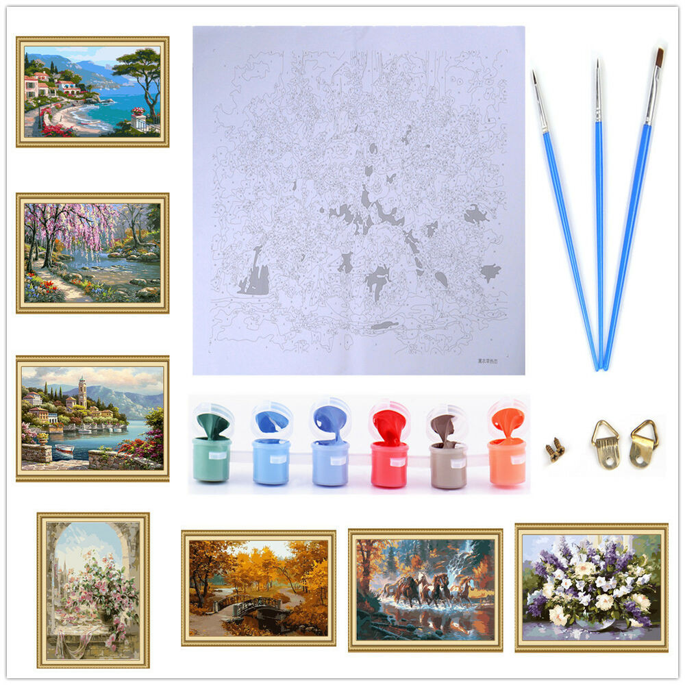 Best ideas about DIY Paint By Numbers . Save or Pin Frameless Paint By Number DIY Oil Painting Canvas Kits Now.