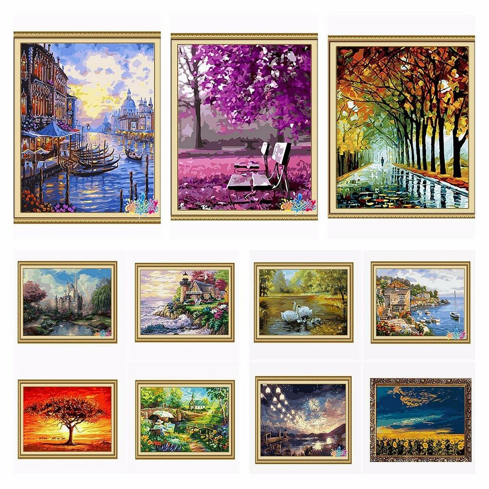"""Best ideas about DIY Paint By Numbers . Save or Pin New DIY Paint By Number 16"""" 20"""" Fall In Love Painting kit Now."""