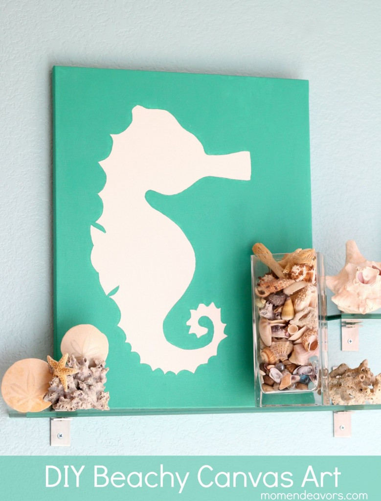 Best ideas about DIY Paint Canvas . Save or Pin DIY Art Beachy Seahorse Canvas Now.