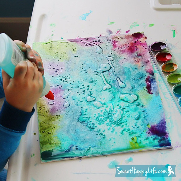 Best ideas about DIY Paint Canvas . Save or Pin DIY Unbelievably Beautiful Painting With Watercolors Glue Now.