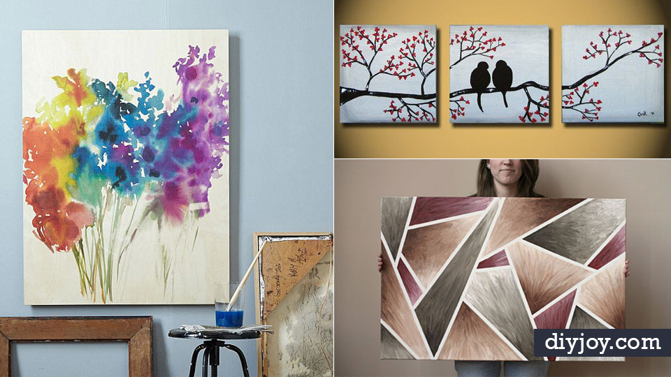 Best ideas about DIY Paint Canvas . Save or Pin 36 DIY Canvas Painting Ideas Now.