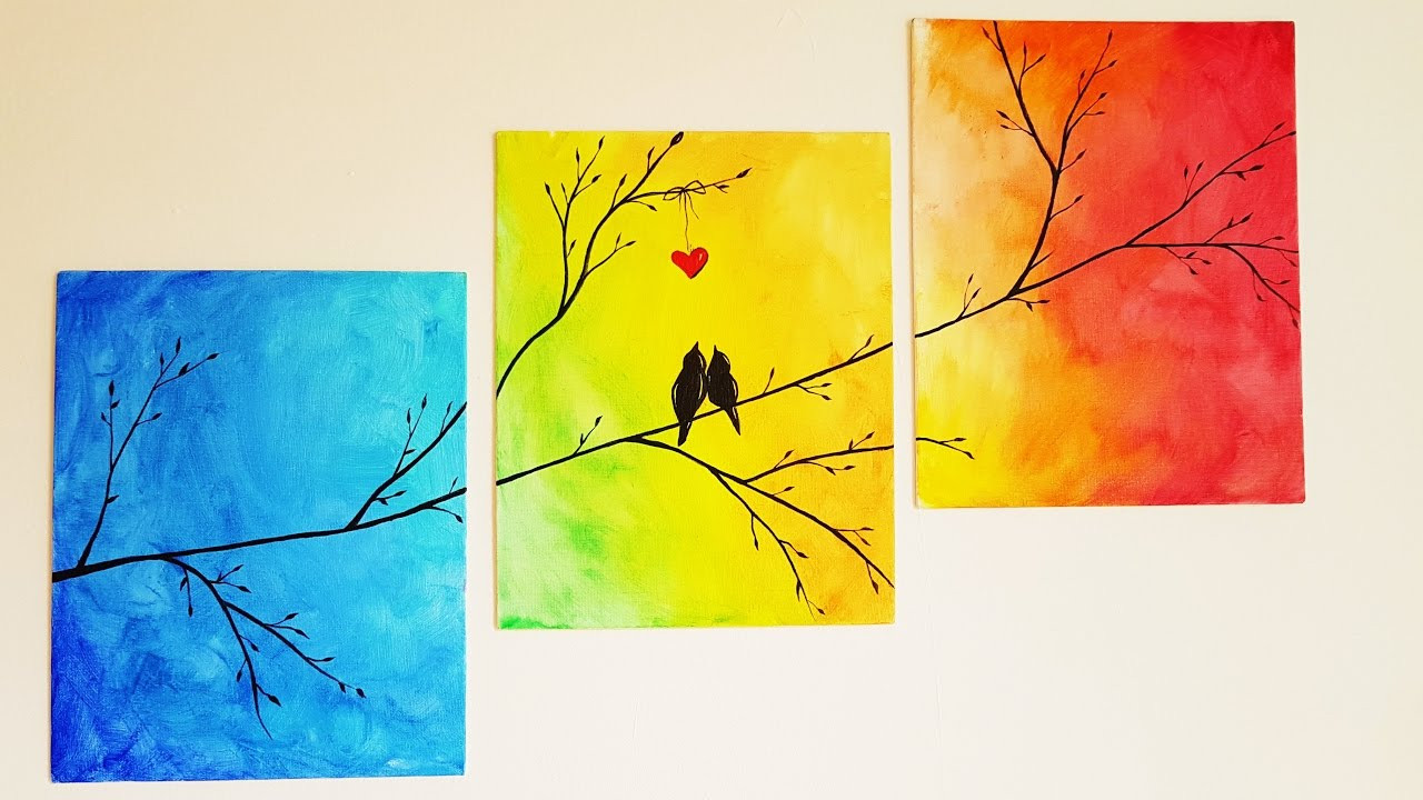 Best ideas about DIY Paint Canvas . Save or Pin DIY Colorful Tree Canvas Painting ♥ Room Decor Now.