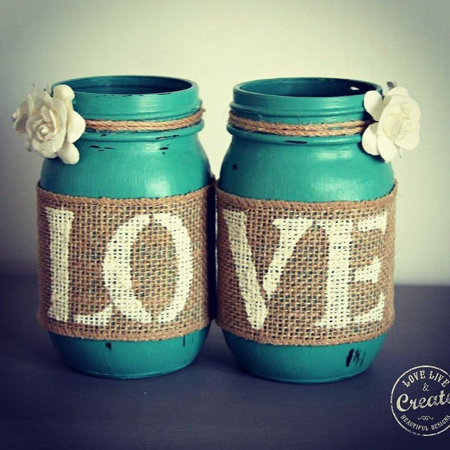Best ideas about DIY Paint Mason Jars . Save or Pin Customized Mason Jars DIY Home Decor Now.