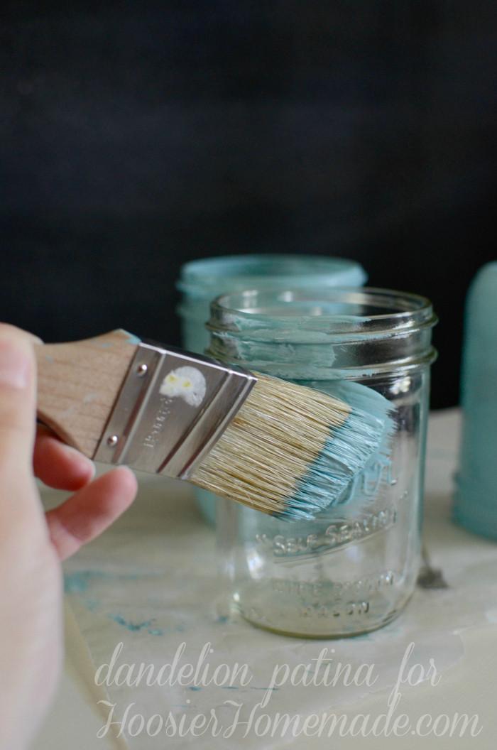 Best ideas about DIY Paint Mason Jars . Save or Pin Chalk Paint Mason Jars Dandelion Patina Now.