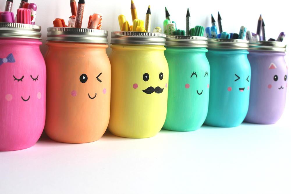 Best ideas about DIY Paint Mason Jars . Save or Pin Kawaii Inspired DIY Painted Mason Jar Now.