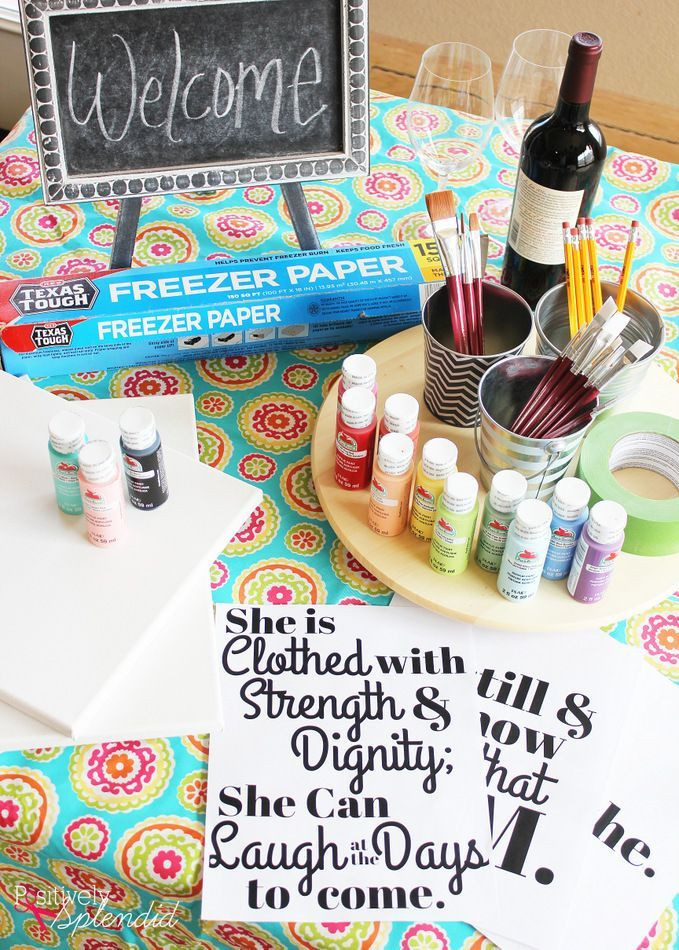 Best ideas about DIY Paint Night At Home . Save or Pin 25 best ideas about Girls Night Crafts on Pinterest Now.