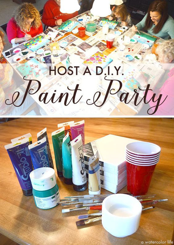 Best ideas about DIY Paint Night At Home . Save or Pin How to host a DIY painting party for your birthday Now.