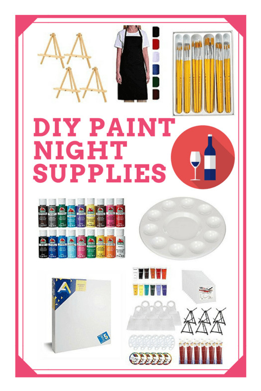 Best ideas about DIY Paint Night At Home . Save or Pin DIY Paint Party Supplies Step By Step Painting Tutorials Now.