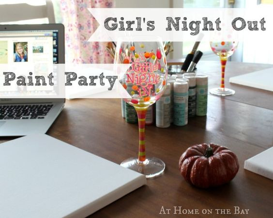 Best ideas about DIY Paint Night At Home . Save or Pin Host a Girl s Night Out Paint Party it s easy and fun Now.