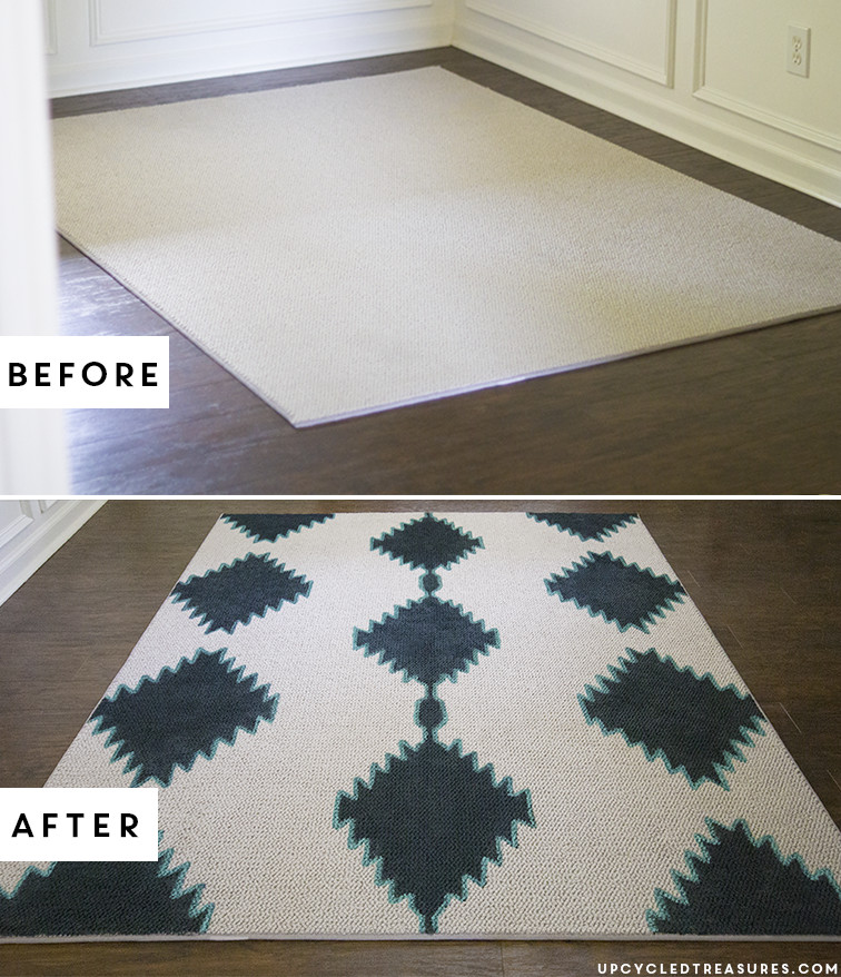 Best ideas about DIY Painted Rug . Save or Pin DIY Painted Rug Now.