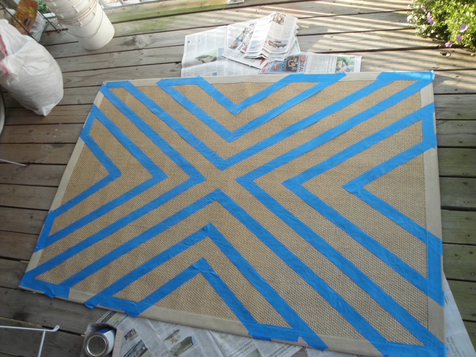 Best ideas about DIY Painted Rug . Save or Pin Newly Domesticated DIY Painted Rug Now.