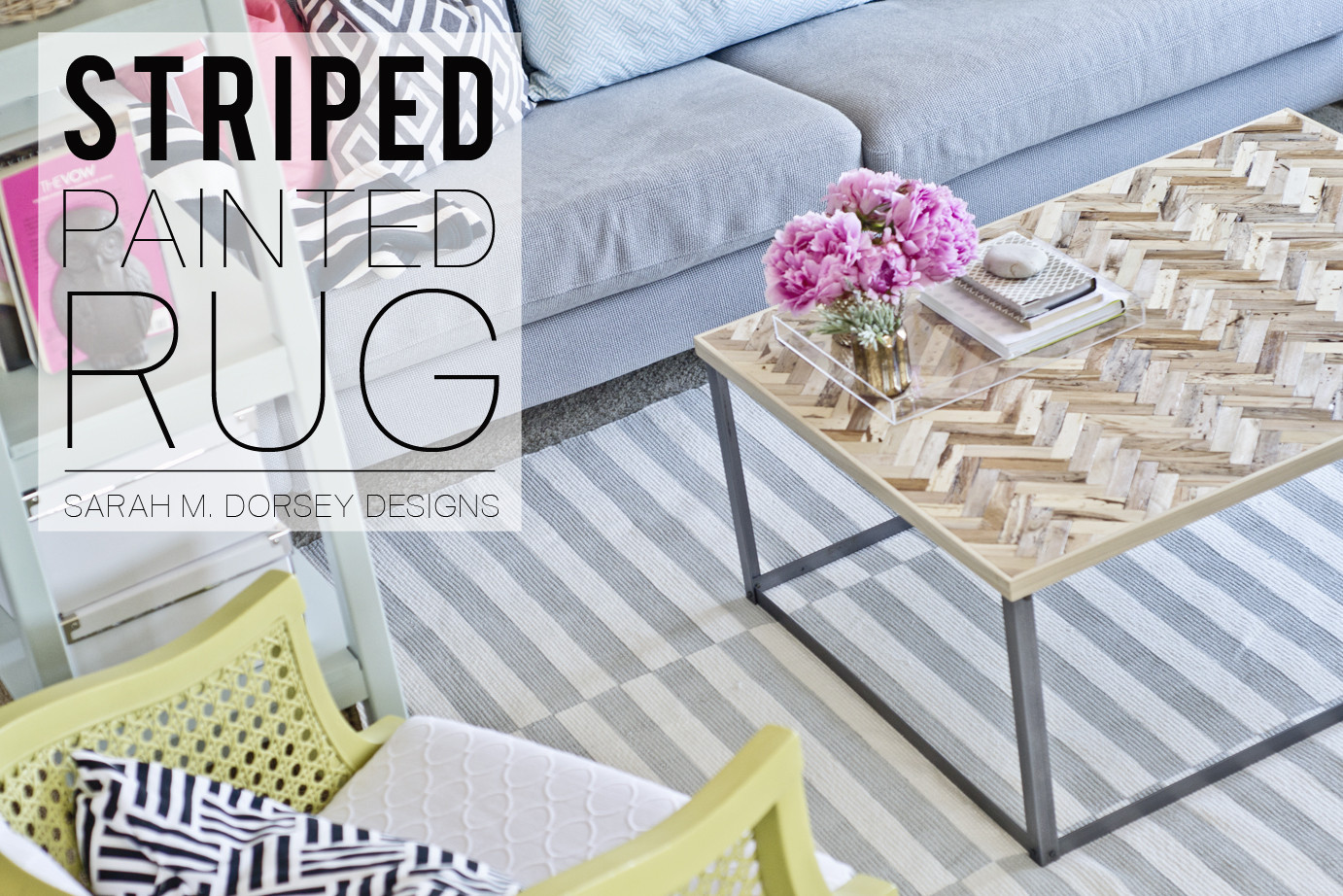 Best ideas about DIY Painted Rug . Save or Pin sarah m dorsey designs DIY Striped Painted Rug in about Now.