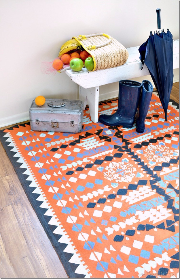 Best ideas about DIY Painted Rug . Save or Pin 32 Brilliant DIY Rugs You Can Make Today Now.