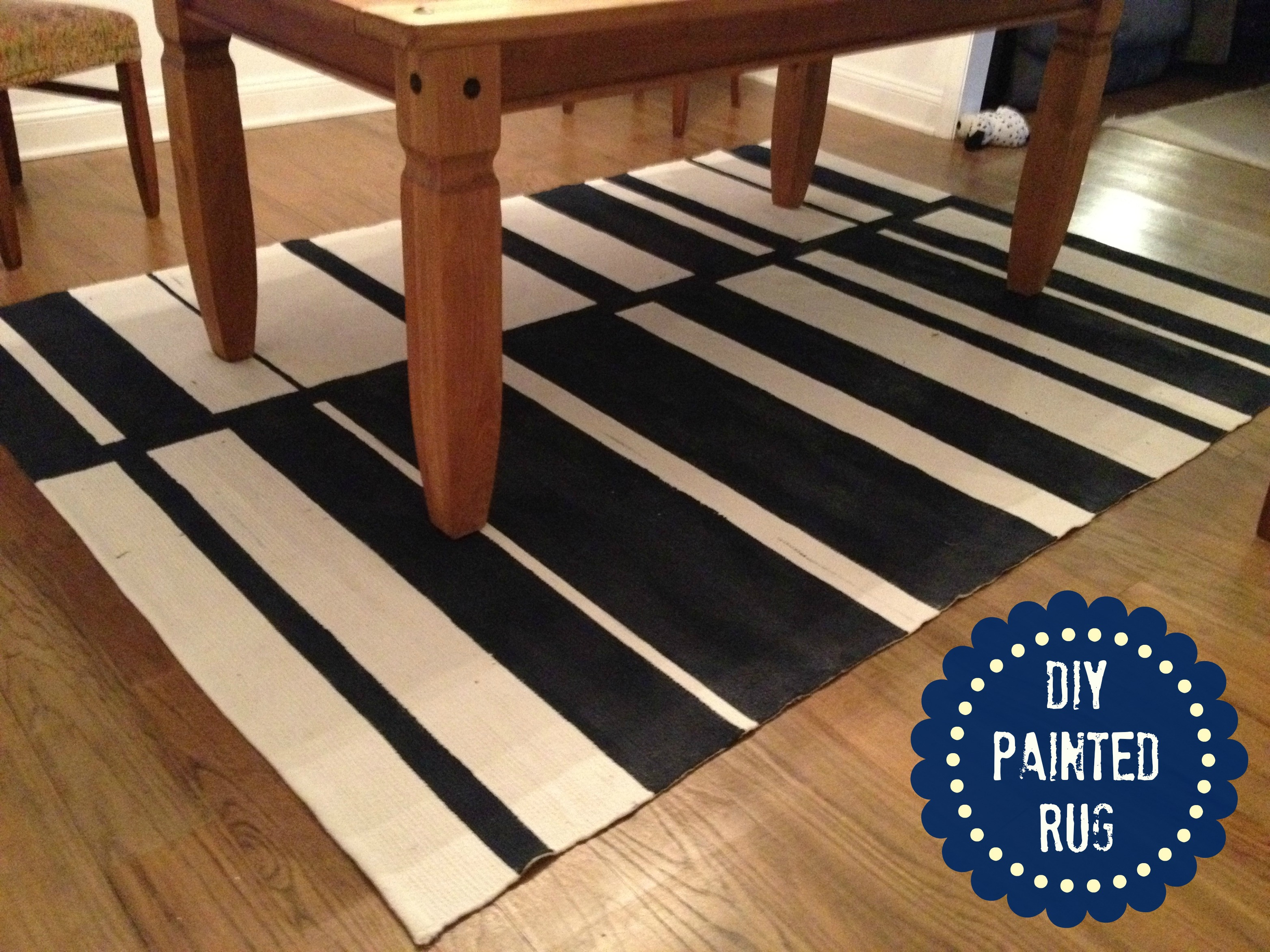 Best ideas about DIY Painted Rug . Save or Pin How to Paint a Rug Tutorial Now.