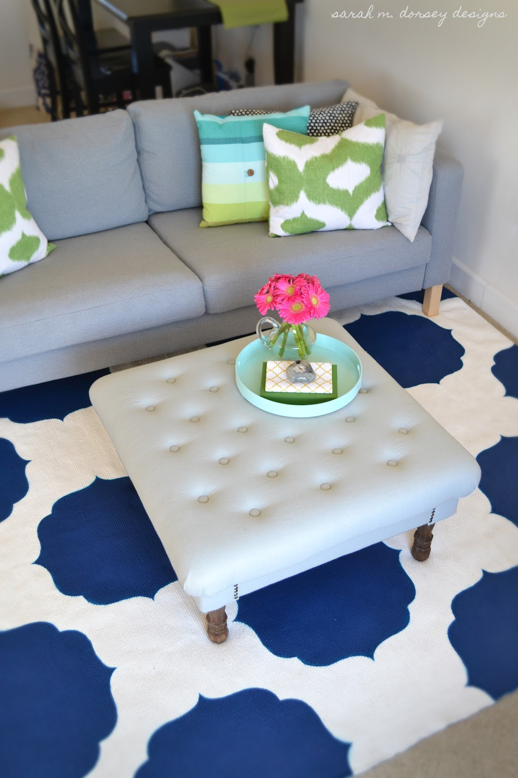 Best ideas about DIY Painted Rug . Save or Pin sarah m dorsey designs diy painted morrocan rug finished Now.