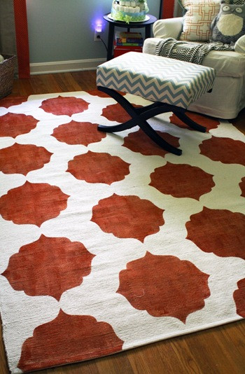 Best ideas about DIY Painted Rug . Save or Pin Top female charm Chase's Nursery – diy pAINTED iKEA Rug Now.