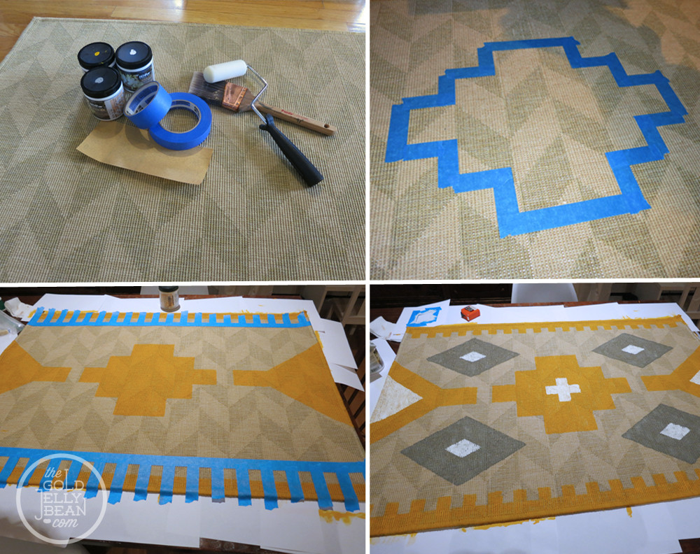 Best ideas about DIY Painted Rug . Save or Pin DIY Painted Kilim Rug Now.
