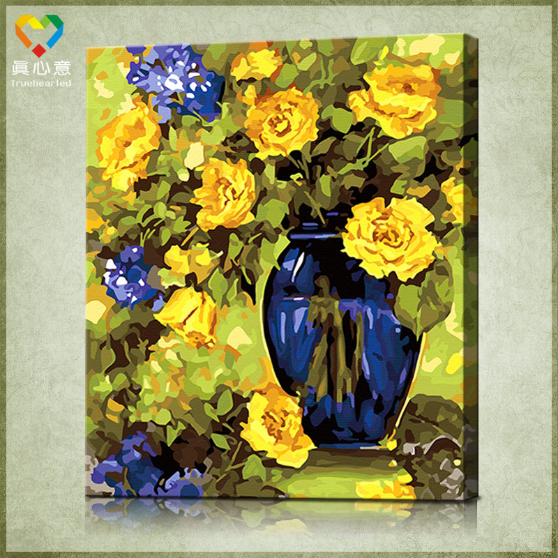 Best ideas about DIY Painting By Number . Save or Pin Flower painting by numbers kits Now.