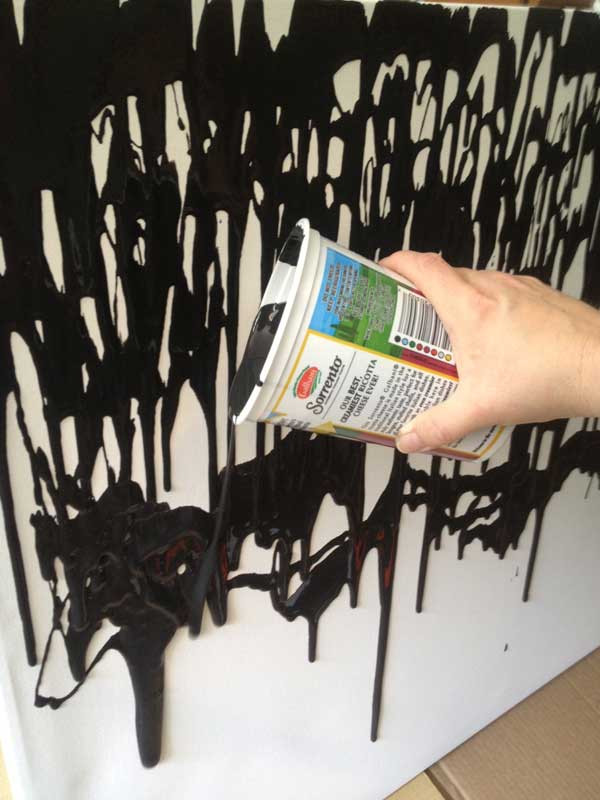 Best ideas about DIY Painting Wall . Save or Pin make this easy DIY paint drip wall art Now.